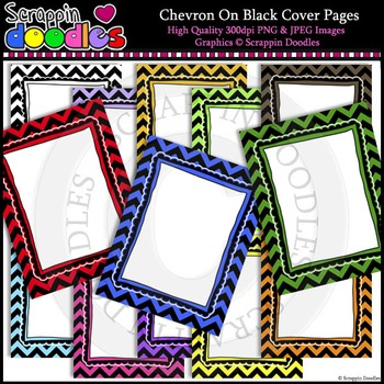 """Chevron on Black 8-1/2""""x11"""" Ready Pages"""