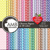Digital Papers - Chevron papers and backgrounds, {Best Teacher Tools} AMB-530