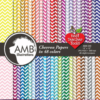 Digital Papers - Chevron papers and backgrounds, AMB-530