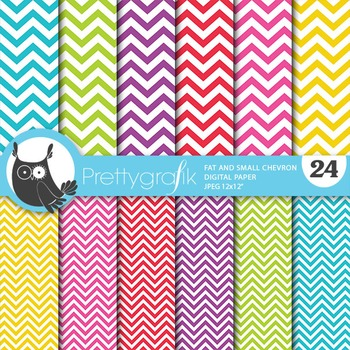 Chevron small large digital paper, commercial use, scrapbook papers - PS669