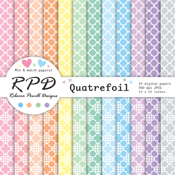 Chevron stripes pastel colours & white digital paper set/ backgrounds