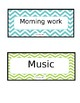 Chevron subject cards