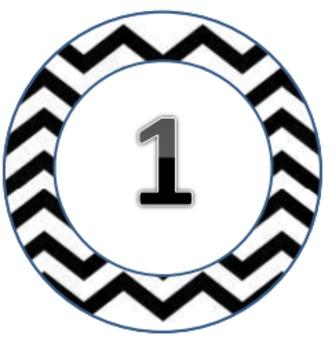 Chevron Themed Circles Pack1 1-31