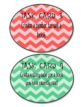 Chevron themed task cards