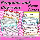 Chevron with Penguins Name Plates