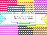 Chevron with Polka Dots Backgrounds