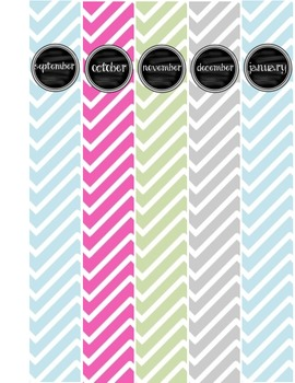 Chevron/Chalkboard Binder Covers!