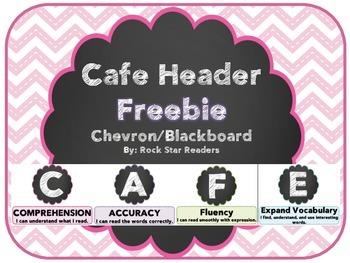 Chevron/Chalkboard Cafe Headers [FREEBIE]