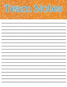 Chevron/Glitter Meeting Note Pages