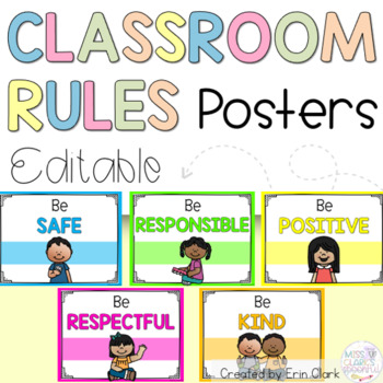 Chevron/Neon Classroom Rules Posters {Responsive Classroom Inspired}