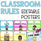Responsive Classroom Rules Posters {Chevron/Neon}