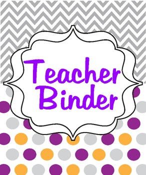 Chevron/Polka Dot Teacher Binder