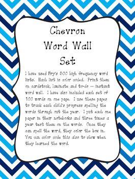 ChevronWordWallSet