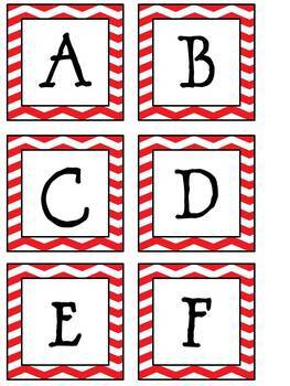 Chevrons, Polka Dots, and Zebras...Oh My!  25 Sets of Boggle Letters and Numbers