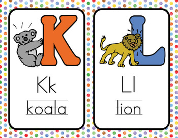 Chevrons and Dots: Alphabet Cards!