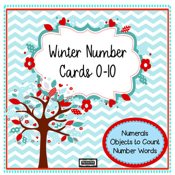 Winter Number Cards 0 - 10