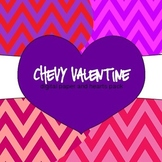 Chevy Valentine: Digital Paper and Hearts Pack {FREEBIE}