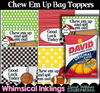 Chew Em Up Bag Toppers for Sports
