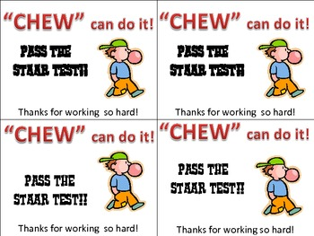 """""""Chew"""" can do it! Encouragement Cards for kids."""