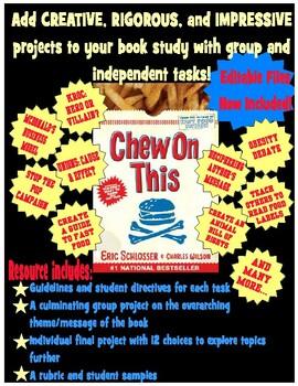 Chew on This Activities: Creative, Rigorous, Impressive!