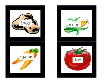 Chew your food! Phonics fun with OO, UE, and EW!