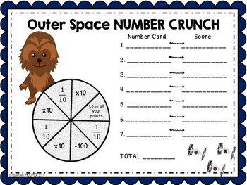 Outer Space Number Crunch: A Place Value Relationship Game