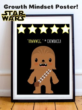 Chewbecca Chewie Star Wars Growth Mindset Poster Theme Classroom Decor Posters