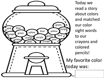 Chewing On Color Words