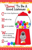 """Chews"" To Be A Good Listener Poster (Bubblegum Themed)"