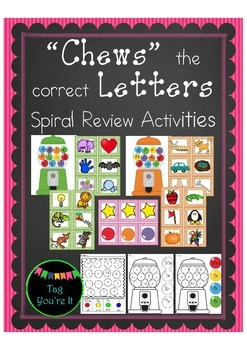 Chews the Letter: Spiral Review Activities for Kindergarten