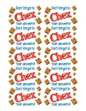 Chex Mix Testing Treat Labels