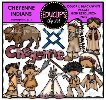 Cheyenne Indians Clip Art Bundle {Educlips Clipart}