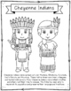 Cheyenne Indians Coloring Page Activity and Poster, Native