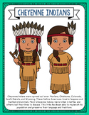 Cheyenne Indians Coloring Page Craft and Poster, Native Am