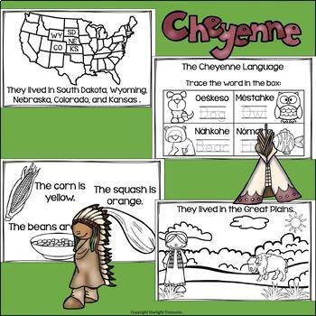 Cheyenne Tribe Mini Book for Early Readers - Native American Activities