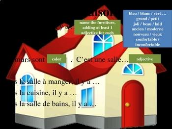 Maison House Chez moi conversation and composition power point