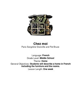 Chez moi - lesson plans for Novice French Students