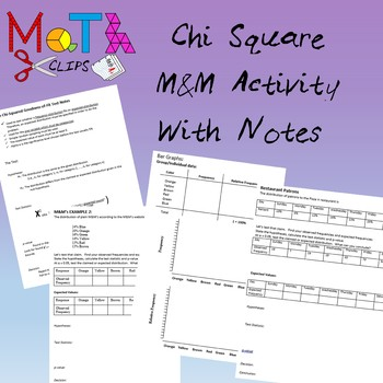 Chi Square M&M's Activity with Notes and Extra Examples