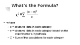 Chi-Squared Analysis for AP Biology
