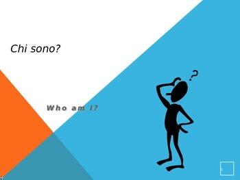 Chi sono io? Powerpoint