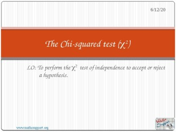 Chi squared test of independence