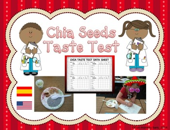 Chia seeds tasting activity. Five senses