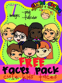 FACES CLIPART FREEBIE PACK {Cute Kids Faces}