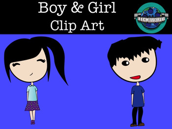 Boy & Girl Clip Art