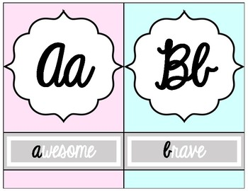 Chic Alphabet Line 2
