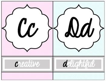Chic Alphabet Line