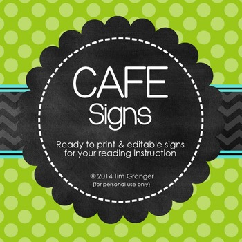 Chic CAFE Signs