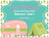 Chic Camping (Glamping) Theme Classroom Behavior Chart EDITABLE