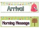 Chic Camping (Glamping) Theme Classroom Daily Schedule Cards EDITABLE