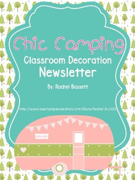 Chic Camping (Glamping) Theme Newsletter EDITABLE